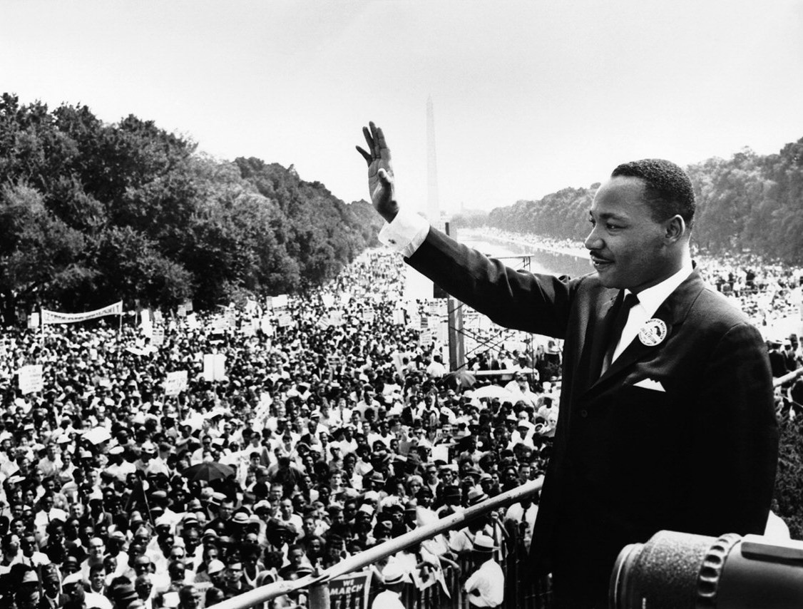 Martin Luther King Jr. outside the Lincoln Memorial in Washington, D.C.