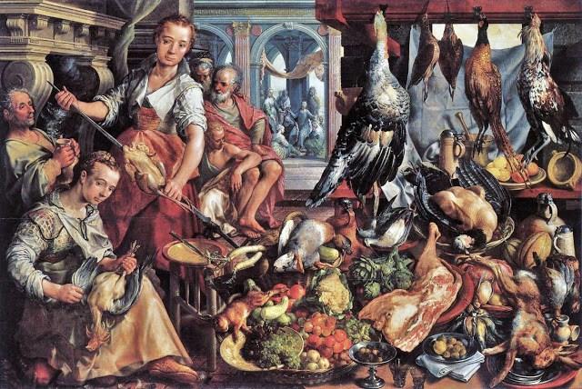 11 Joachim Beukelaer (Flemish painter c 1534-c 1574) The Well-Stocked Kitchen including fowl.jpg