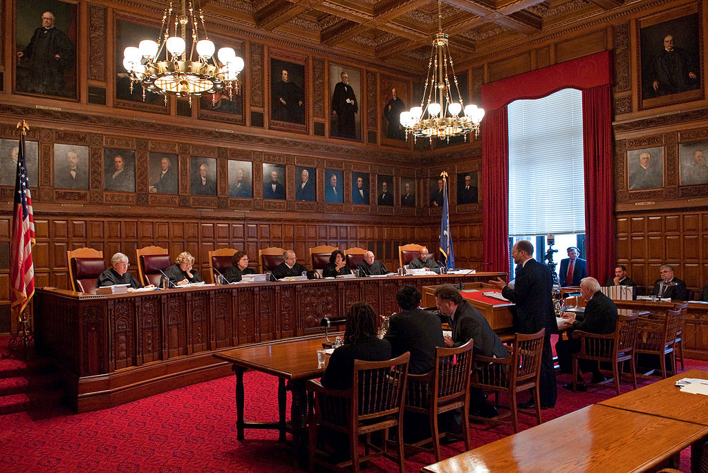 Judges sitting in the New York Court of Appeal.